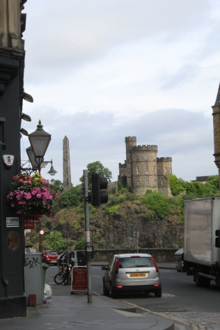 View of Calton Hill from Royal Mile