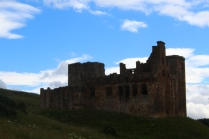 Crichton Castle from the path